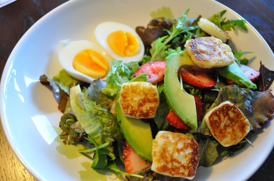 Fried Haloumi Salad