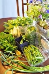 The Fourth CSA Harvest: Biweekly Flowers and GarlicScapes