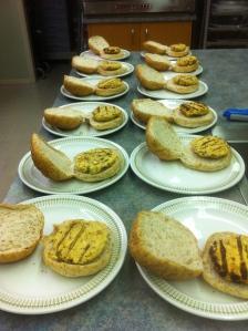 Prepped Falafel Burgers