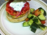 Growing Eden: Falafel Burgers with Cilantro Feta Sauce & Pickled Onions