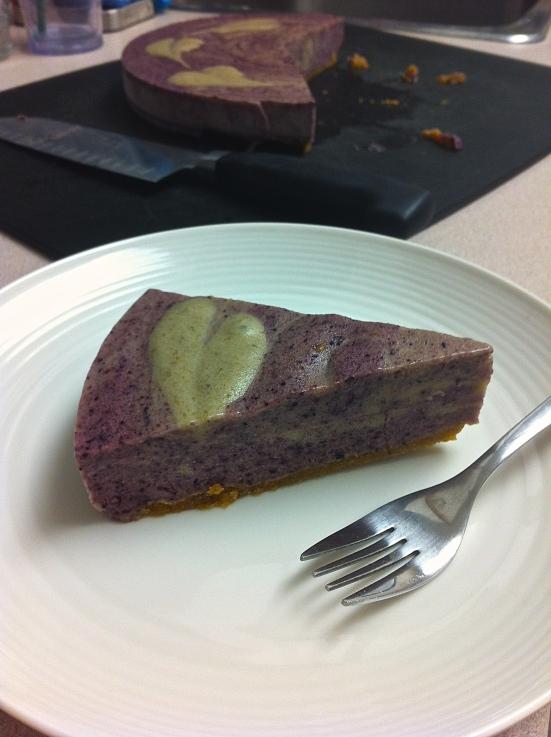 Lemon Blueberry Banana Ice cream Cake