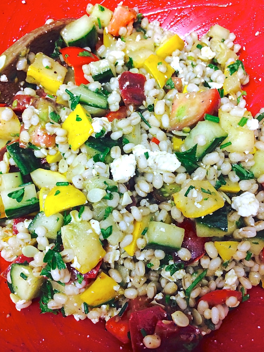 Summer Barley Zucchini Salad